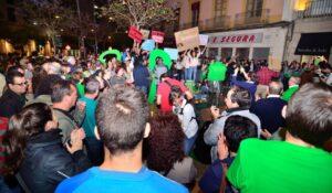 Imagen de una de las vigilias en la Plaza de Puerta Purchena de la capital almeriense