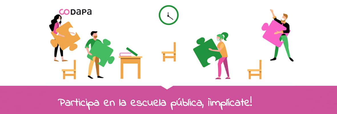 Participa en la escuela pública, ¡implícate!